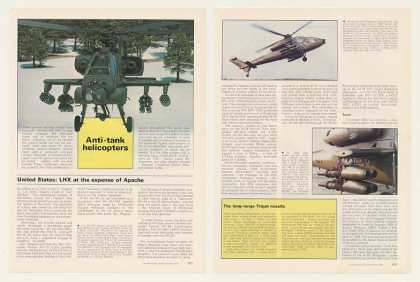 Military Anti-Tank Helicopters 7-Pg Photo Article (1987)