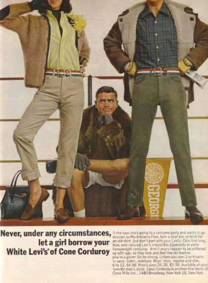"Levi's ""Never, under any circumstances, let a girl borrow your White (1964)"