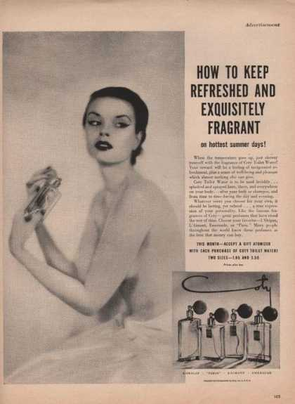 Coty Toilet Water (1950)