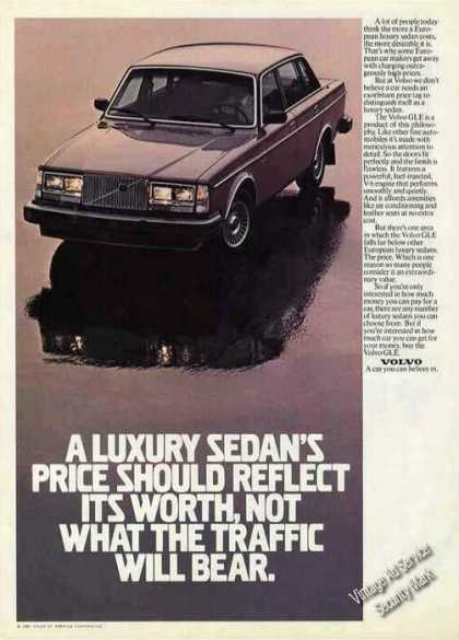 "Volvo Gle ""Price Should Reflect Its Worth"" Car (1981)"