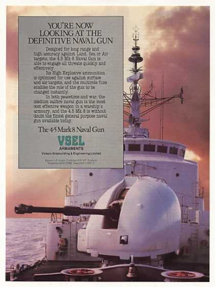 VSEL 4.5 Mark 8 Naval Gun Photo (1986)