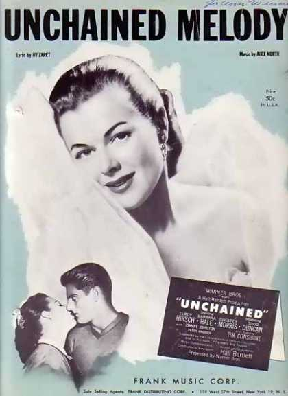 Unchained Melody – Barbara Hale Movie Sheet Music (1955)