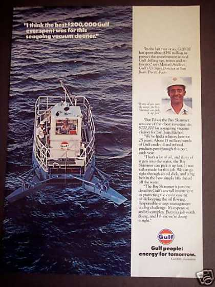"Seagoing Vacuum Cleaner ""Bay Skimmer"" Gulf Oil (1980)"
