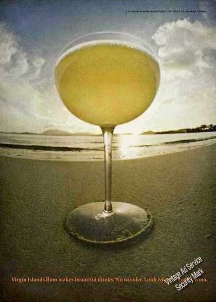 "Virgin Islands Rum ""Makes Beautiful Drinks"" (1968)"