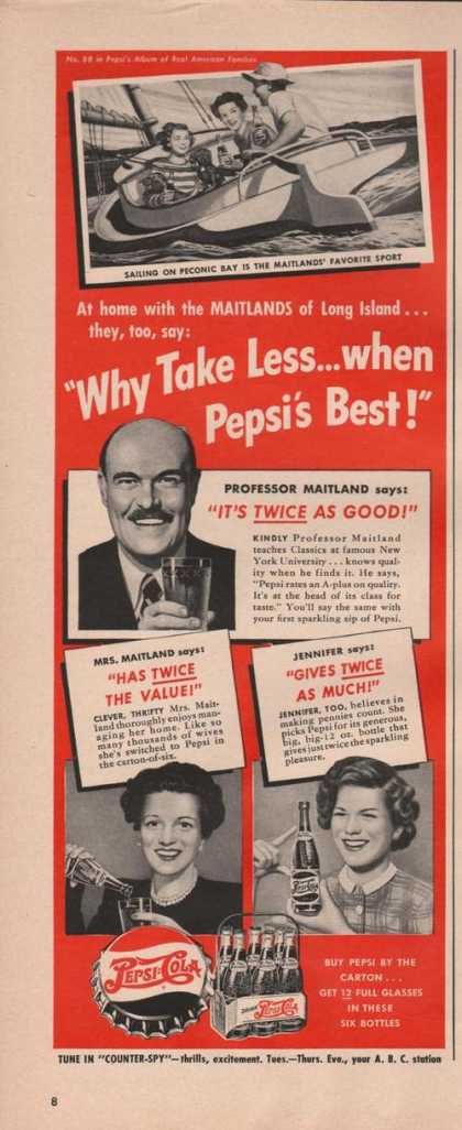 Pepsi Cola Soda Twice As Good (1949)