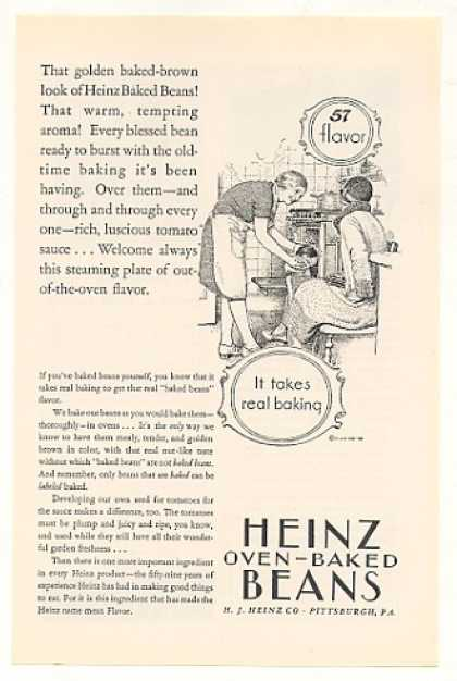 Heinz Oven Baked Beans Lady Baking (1928)