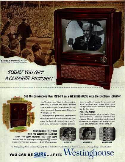 Westinghouse Electric Corporation's Television – Today you get a Clearer Picture (1952)