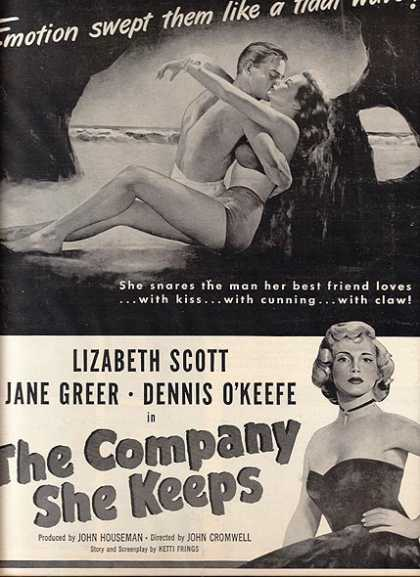 The Company She Keeps (Lizabeth Scott, Jane Greer and Dennis O'Keefe) (1951)