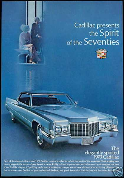 Cadillac 4 Door Car Photo Print Vintage (1970)