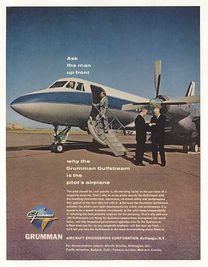 Grumman Gulfstream Airplane Aircraft Photo (1963)