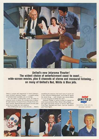 United Airlines Jetarama Theater Yul Brynner (1965)