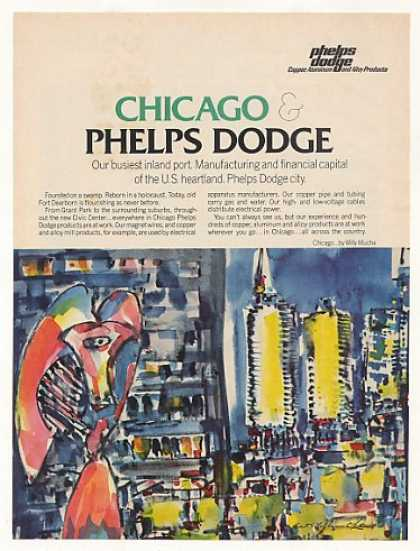 Phelps Dodge Chicago Willy Mucha art (1971)