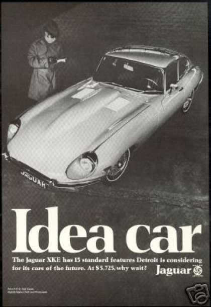Jaguar XKE Detroit Spy Photo Car Vintage (1968)