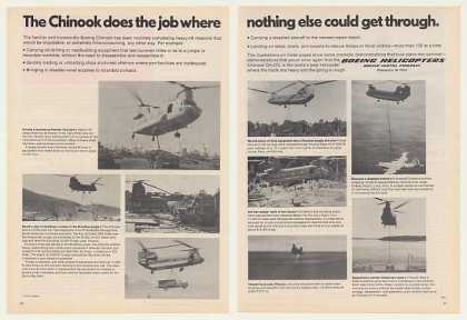 Boeing Chinook Helicopter Does Job 9 Photo 2-Pg (1975)