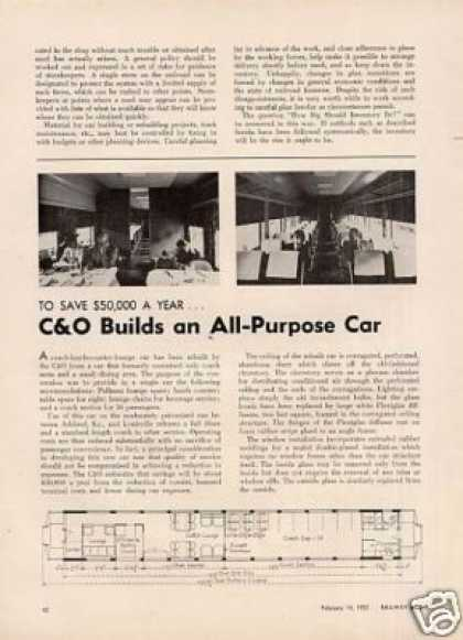 """C&o Builds an All-purpose Car"" Article (1955)"
