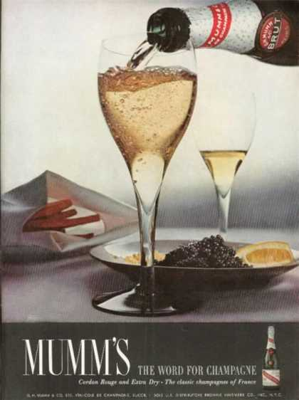 Mumm's French Champagne Cordon Rouge Brut (1962)