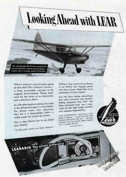 Stinson Voyager 125 Photo Learadio (1945)