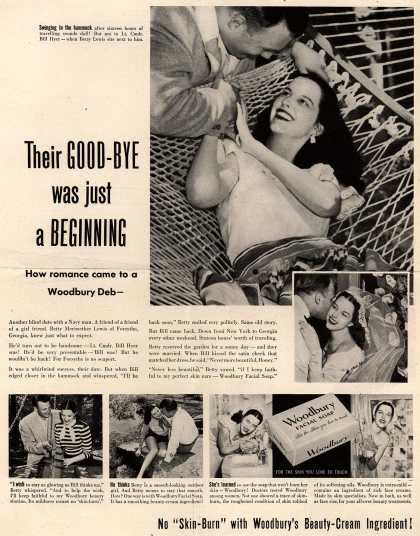 Woodbury's Facial Soap – Their Good-Bye was just a Beginning. How romance came to a Woodbury Deb- (1949)