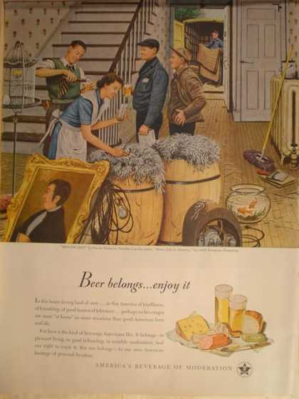 Beer America's beverage of moderation (1947)