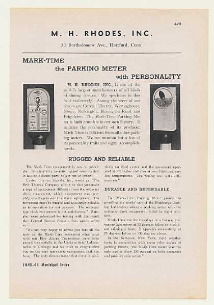 M.H. Rhodes Mark-Time Parking Meter (1940)