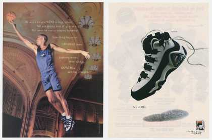 Grant Hill Photo High School Nerd Fila Shoes 2P (1995)