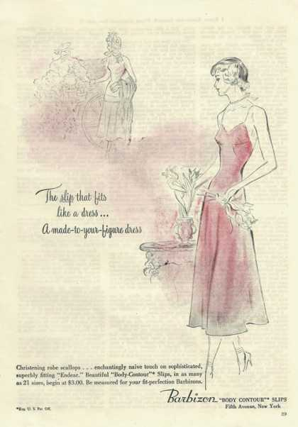 Barbizon Body Contour Slips (1948)