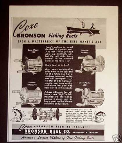 Coxe Bronson Fishing Reels 4 Models (1948)