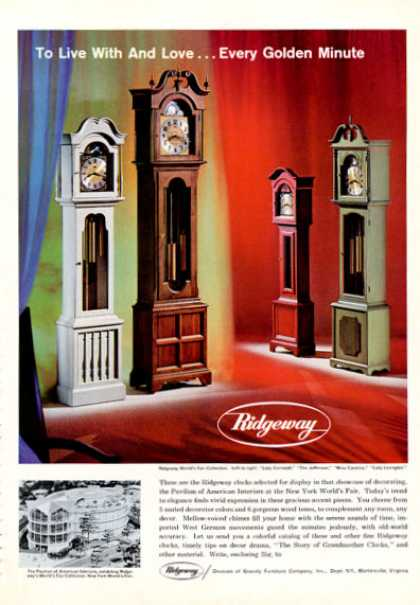Ridgeway Grandfather Clocks 4 Models (1964)