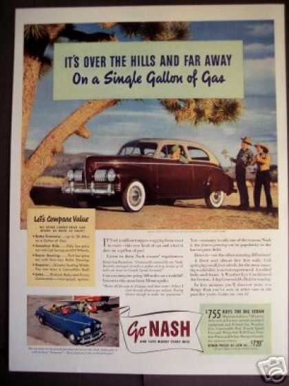 Brown Two-tone Nash Automobile 30 Mpg (1941)
