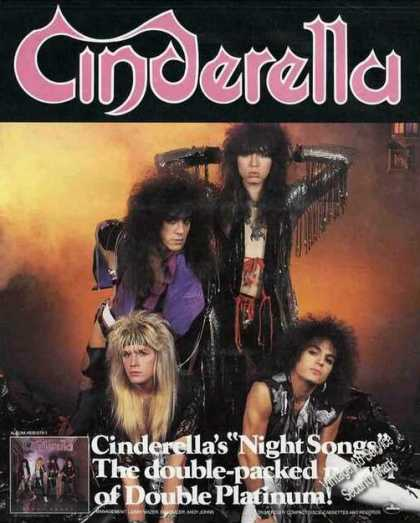 Cinderella Group Photo Night Songs Album Promo (1987)