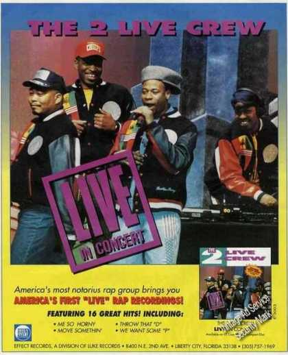 The 2 Live Crew Group Photo Music (1991)