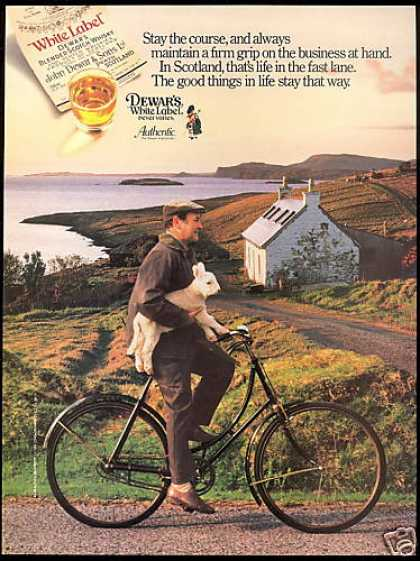 Scotland Lamb Stay the Course Dewar's WL Scotch (1989)