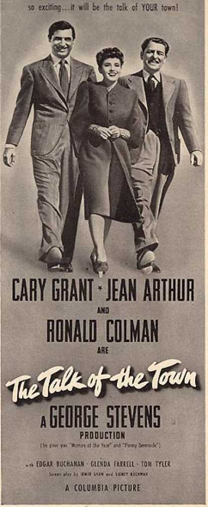 The Talk of the Town (Cary Grant, Jean Arthur and Ronald Coleman) (1942)