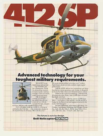 Bell 412SP Military Helicopter (1986)