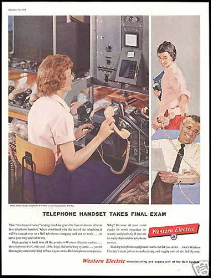 Western Electric Telephone Handset Test (1958)