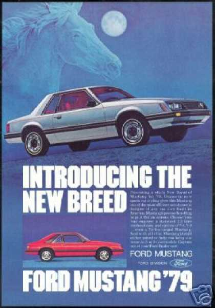 Ford Mustang Car 2 Photo Horse New Breed (1979)