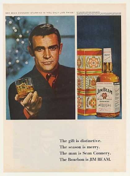 Sean Connery Jim Beam Bourbon Whiskey Photo (1966)