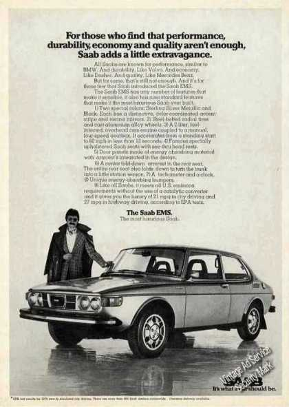Saab Ems Collectible Car Photo (1975)