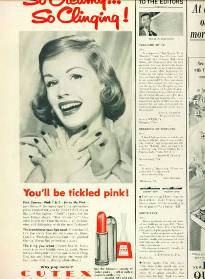 Cutex Sheer Lanolin Lipstick C 1/2 Page (1945)