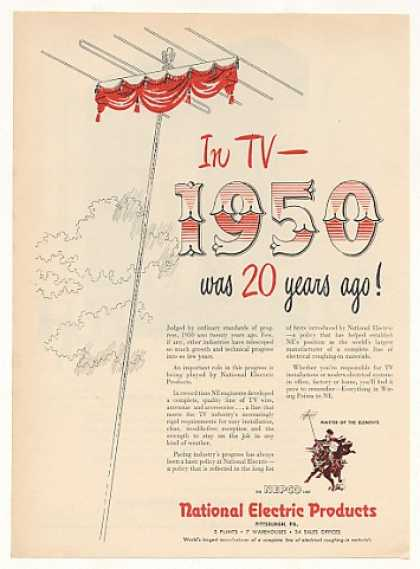 NEPCO National Electric Products TV Antenna (1953)