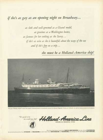 Holland America Line Cruise Ship (1958)