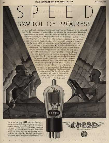 Cable Radio Tube Corporation's Radio Tubes – Speed, Symbol Of Progress (1930)