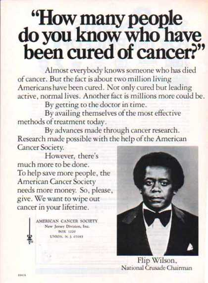 American Cancer Society – Flip Wilson (1976)