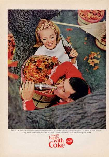 Coca Cola Coke Collecting Fall Leaves (1965)