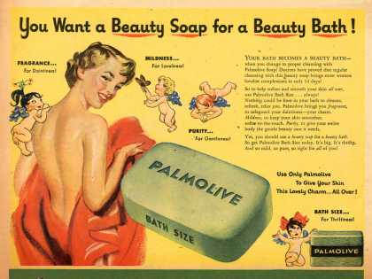 Palmolive Company's Palmolive Soap – You Want a Beauty Soap for a Beauty Bath (1950)