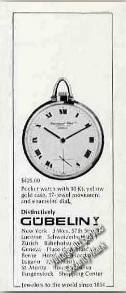 Gubelin 18k Pocket Watch Small (1968)