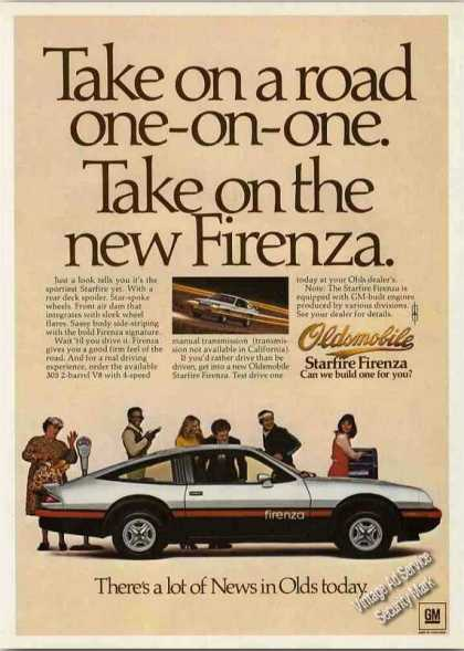 "Oldsmobile Starfire Firenza ""Take On a Road"" (1978)"