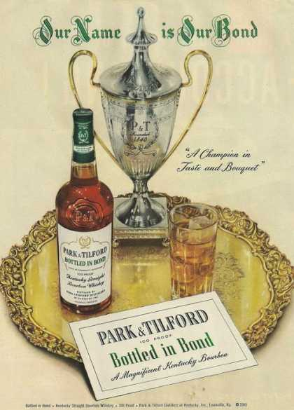 Park & Tilford Bottled In Bond Whiskey (1950)