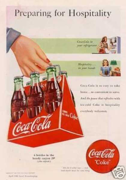"Coca-cola Ad ""Preparing for Hospitality... (1948)"