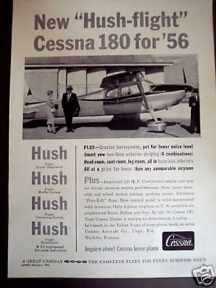 "Cessna 180 ""Hush-flight"" Airplane Plane Photo (1956)"